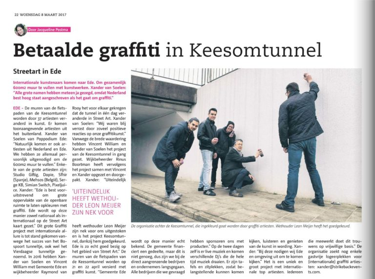 Combolution - Betaalde graffiti in Keesom Tunnel
