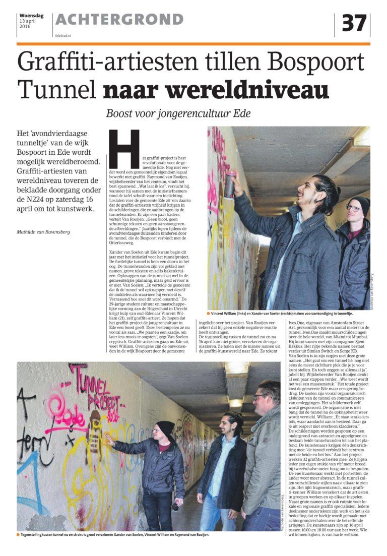 Combolution - Graffiti artiesten tillen Bospoort tunnel naar wereldniveau