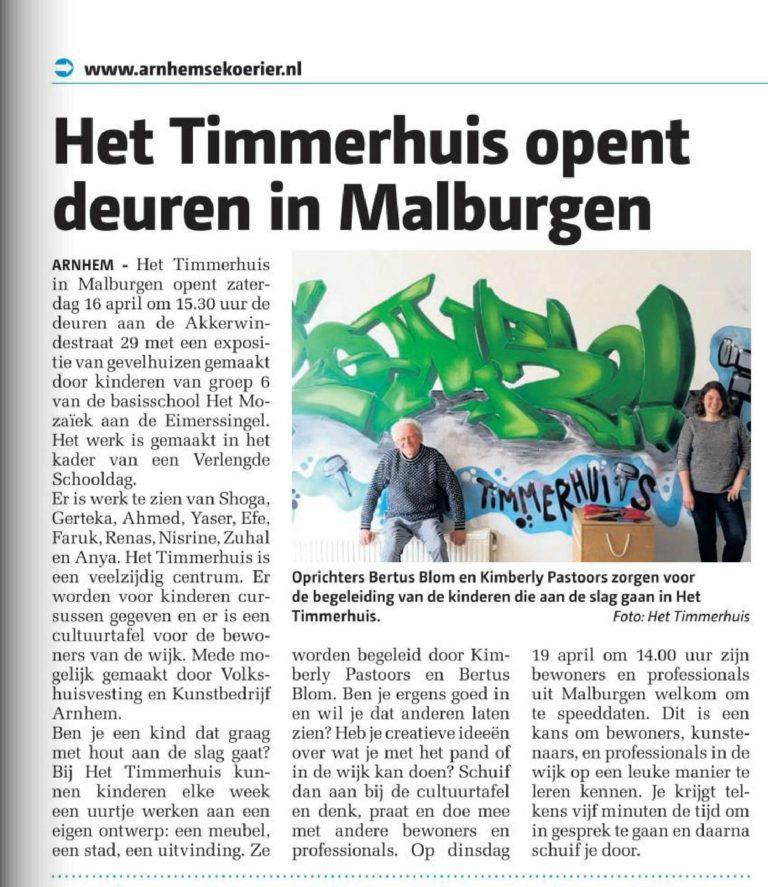 Combolution - Het Timmerhuis opent deuren in Malburgen